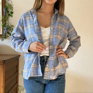 Lands' end baby blue flannel